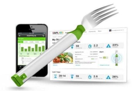 HapiFork: un tenedor inteligente para ayudarnos a comer más despacio