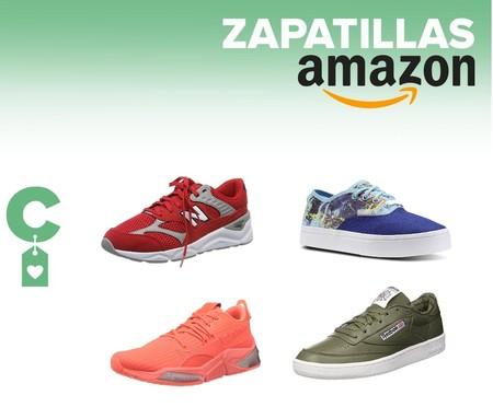 Ofertas en tallas sueltas de zapatillas New Balance, Reebok, Puma o Kappa en Amazon