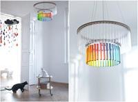 Espectaculares lámparas realizadas con tubos de ensayo