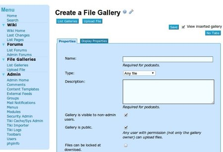Galería de imágenes con Tiki Wiki