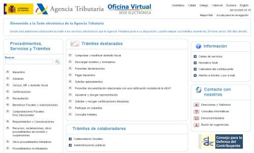Sede electr nica de la agencia tributaria for Oficina virtual de la agencia tributaria