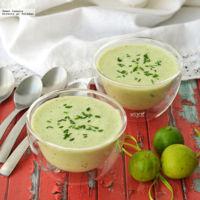 Sopa Fría de Pepino y Yogurt. Receta