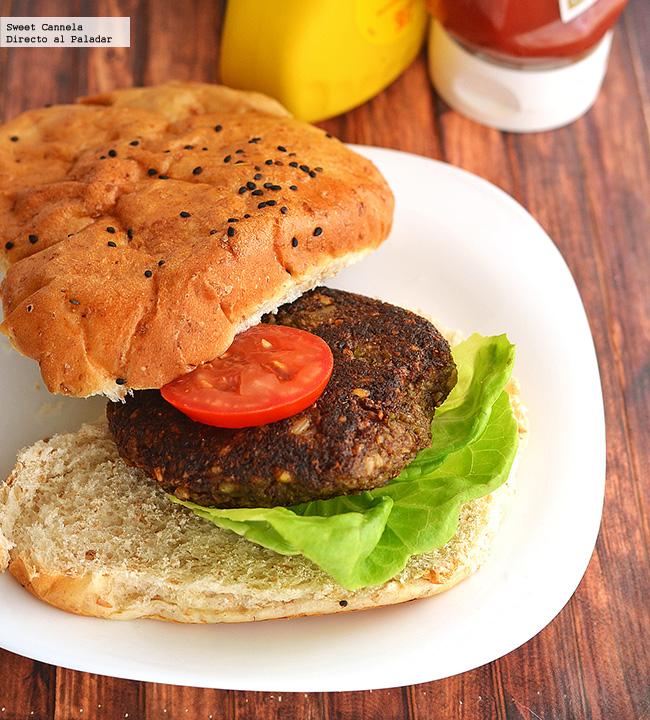 Hamburguesas vegetarianas de hongos receta - Hacer hamburguesas vegetarianas ...