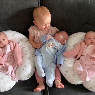 Una madre tuvo dos embarazos y cuatro bebés en menos de un año