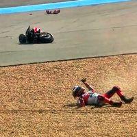 "La caída de Jorge Lorenzo ha sido culpa de un fallo mecánico: ""He tenido mucha suerte"""