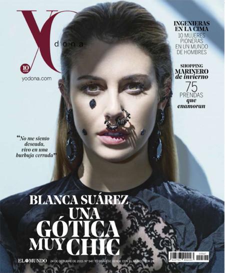 Blanca Suárez se vuelve gótica por un instante. ¿La revolución de los septum?