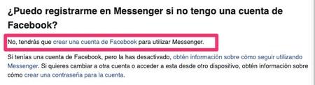 Puedo Registrarme En Messenger Si No Tengo Una Cuenta De Facebook Servicio De Ayuda De Facebook