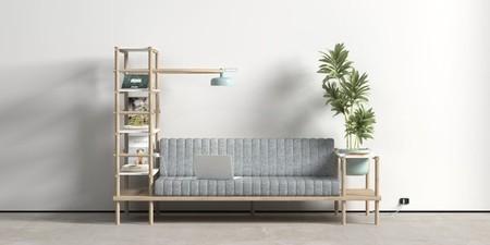 Herb, un sofá multifuncional al que no le falta detalle