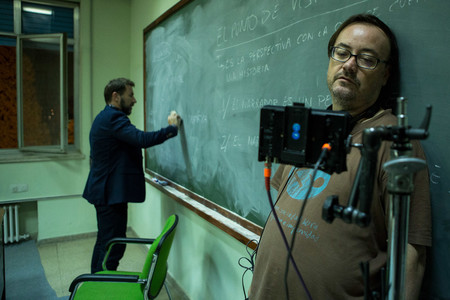 Martin Cuenca rodando El Autor