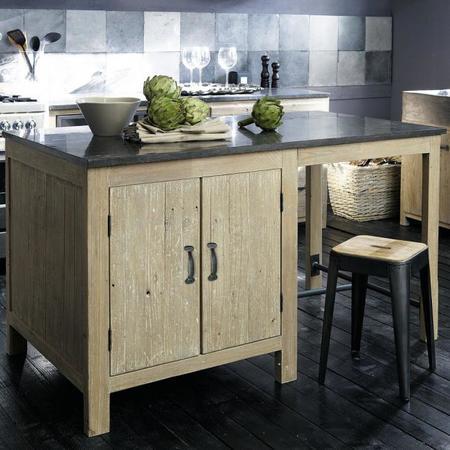 7 islas de cocina de peque o tama o de maisons du monde - Table haute cuisine maison du monde ...