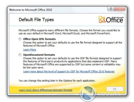 "Office 2010 dispondrá de una ""ballot screen"" para elegir entre OOXML y ODF"
