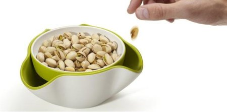 Double Dish Snack Bowl, un recipiente doble