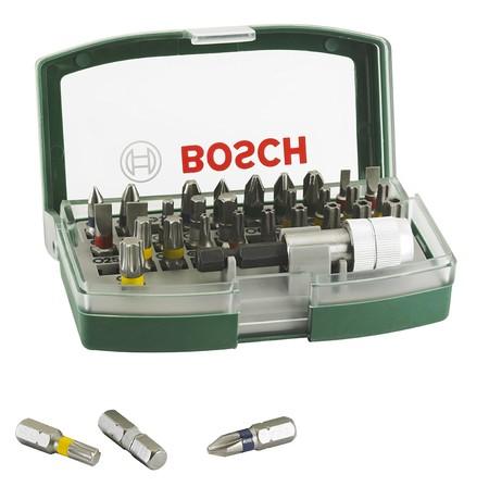 Por sólo 8,50 euros tenemos el set de 32 accesorios para atornillar Bosch 2607017063 en Amazon