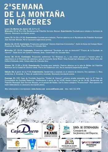 Disfruta gratis de la 'Semana de la montaña' en Cáceres