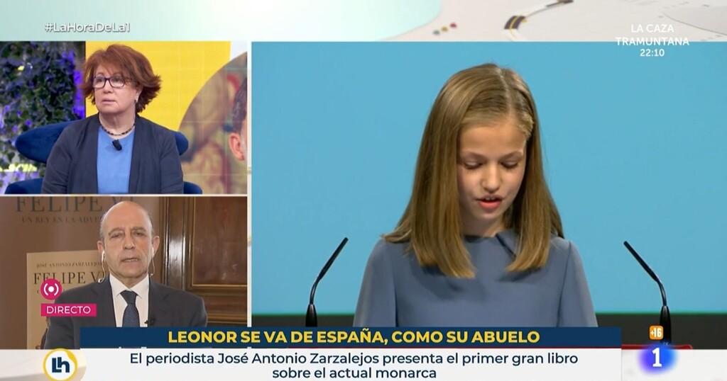 TVE releva a los responsables del controvertido rótulo sobre la infanta Leonor en 'La hora de La 1'