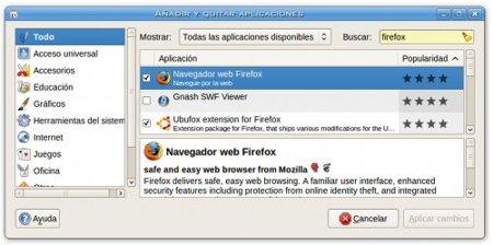 Añadir y quitar programas - Ubuntu