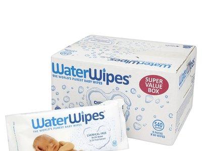Ideal para pieles sensibles: pack de 9 paquetes de  toallitas húmedas para bebé WaterWipes por 20,63 euros en Amazon
