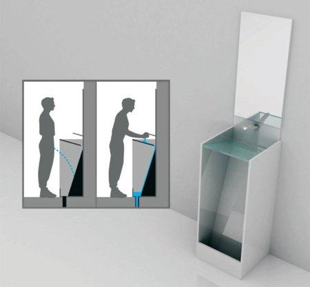 Urinario que se limpia al lavarte las manos