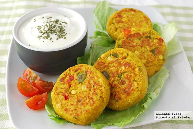 Receta de medallones de lentejas con salsa de yogur for Cocinar lentejas con verduras