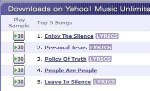 Las letras de canciones de Yahoo ya están disponibles