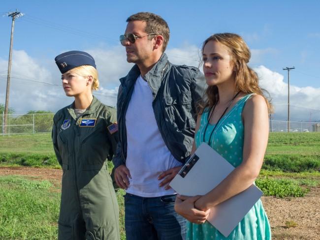 Emma Stone, Bradley Cooper y Rachel Mcadams en Aloha
