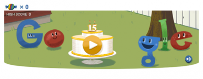 Google cumple 15 años: así han sido sus doodles de celebración