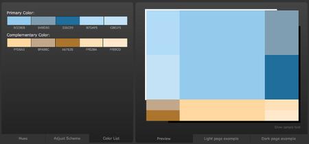 Color Scheme Designer facilita la elección de paleta a los programadores con peor gusto