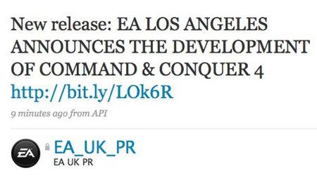 EA confirma, por error, la existencia de 'Command & Conquer 4'
