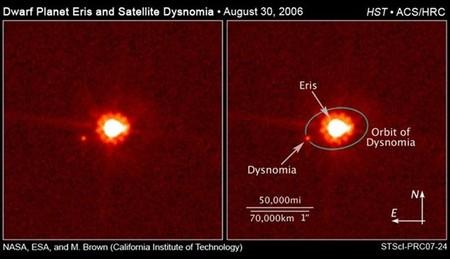 Decimotercer aniversario de Eris, el planeta extra del Sistema Solar