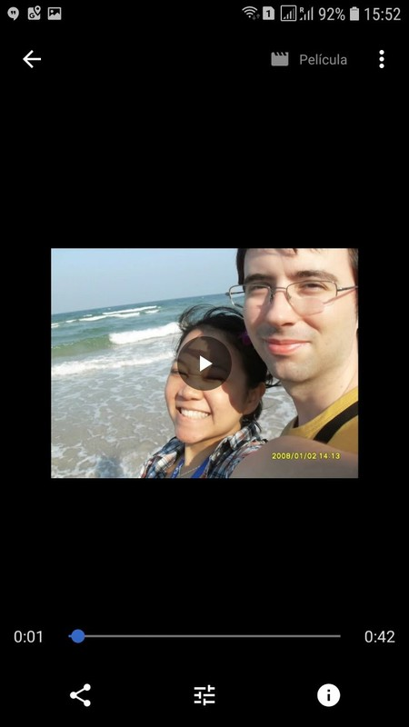 Google Fotos romántico