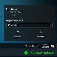 Cómo configurar una alarma o despertador en Windows 10