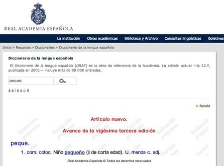 El diccionario de la RAE para aprender ortografía de la lengua española en Internet quiere poner publicidad
