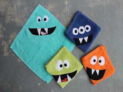 DIY: convierte las toallas de tus hijos en graciosos monstruos