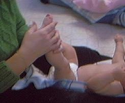 Juegos para los pies del bebé
