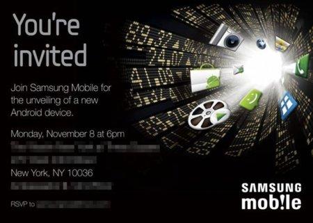 Samsung presentará un nuevo dispositivo Android el próximo 8 de noviembre