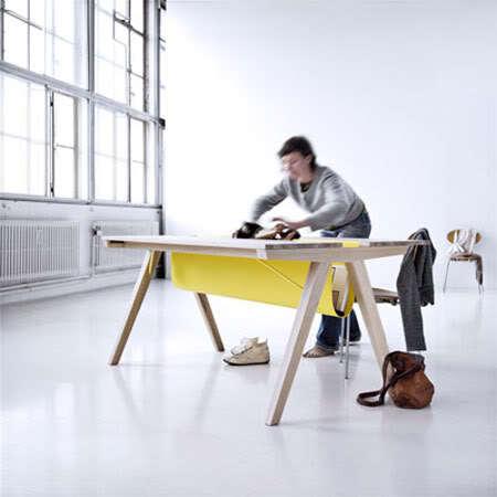 Borrod table, la mesa que se ordena en 2 segundos