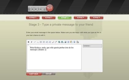 Lockbin, envio de mensajes de correo electrónico seguros y privados