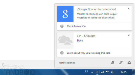 Chrome Canary nos trae Google Now a nuestro ordenador