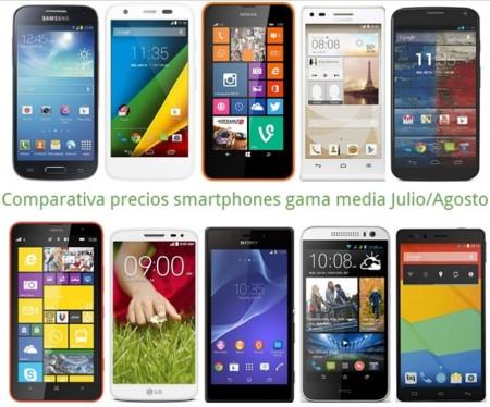 Comparativa precios Moto G 4G, Xperia M2, Lumia 635, LG G2 mini, Galaxy S4 mini, Huawei G6 y otros gama media este verano