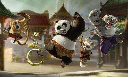 Los protagonistas de Kung Fu Panda 2