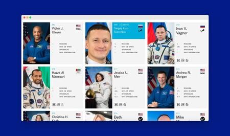 Esta web es una completísima base de datos sobre los astronautas y sus misiones