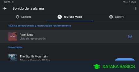 Cómo utilizar una canción de YouTube Music como despertador en Android