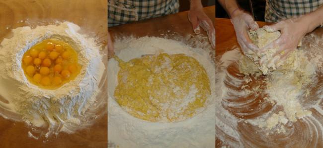 Mezclar Y Amasar Pasta Fresca Casera