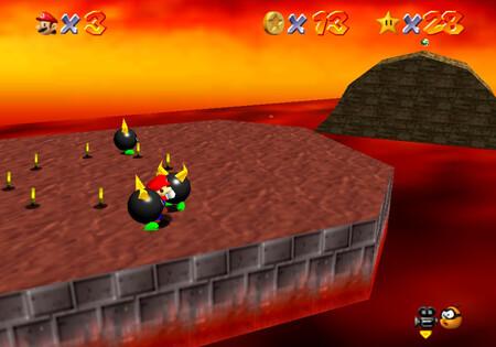 Super Mario 64: cómo conseguir la estrella Bully the Bullies de Lethal Lava Land