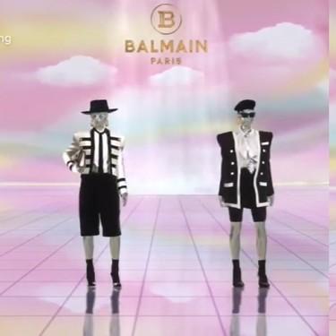 Balmain inaugura un showroom virtual que es un sueño futurista con modelos digitales y el propio Olivier Rousteing en 3D como guía