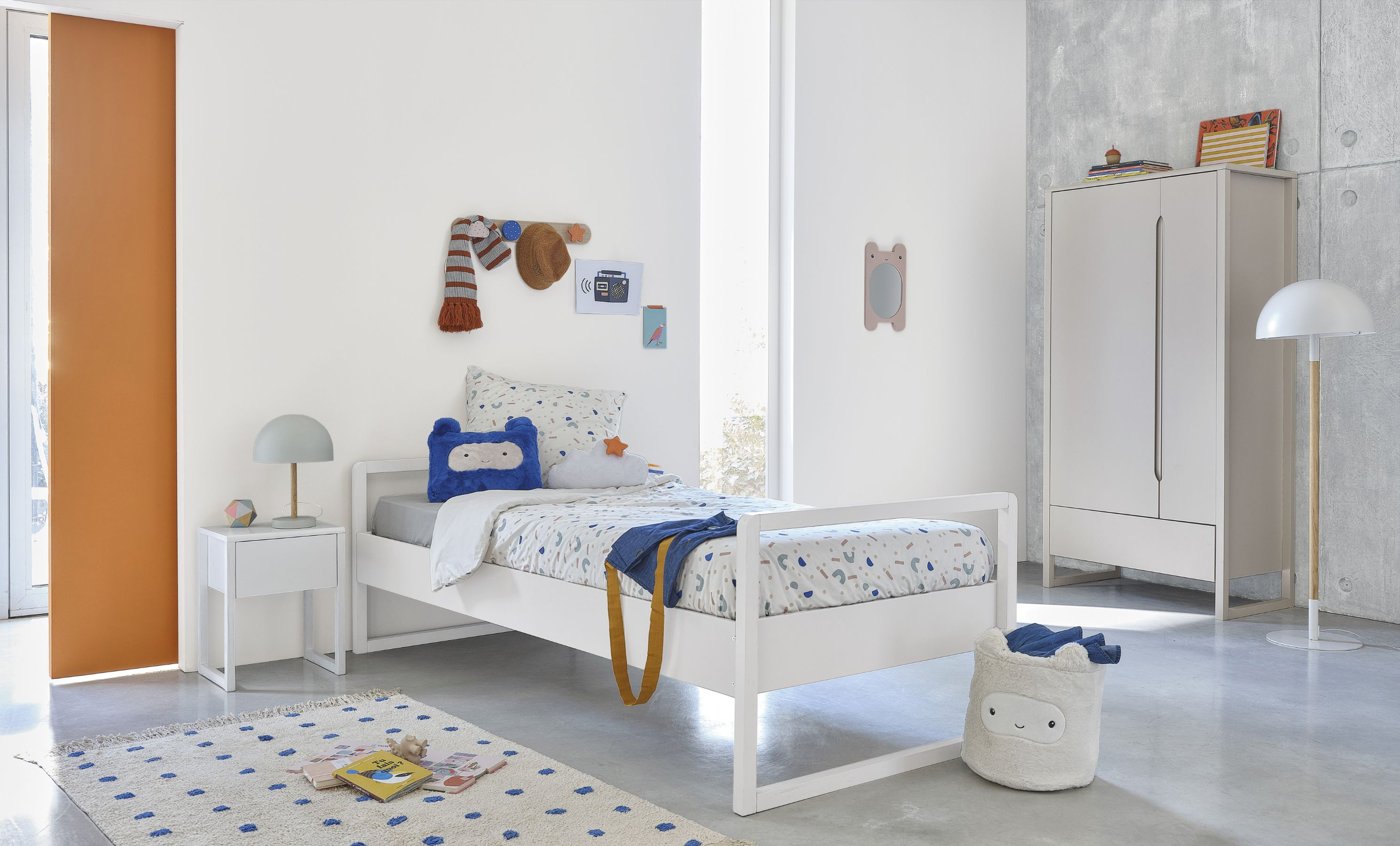 Cama infantil blanca 90 x 200 cm