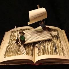 Foto 4 de 5 de la galería esculturas-en-libros en Papel en Blanco