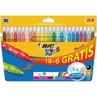 En Amazon: pack de 24 rotuladores Bic Kid Couleur por 3,30 euros. Producto plus