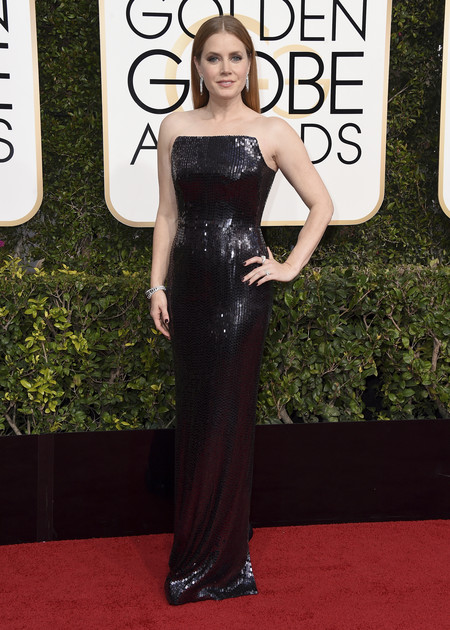 Amy Adams De Tom Ford Globos De Oro 2017