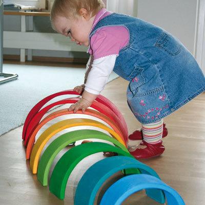 Niñita con arcoiris